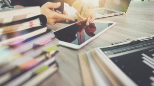 Header - Tablet on Desk